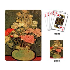 Still Life Vase With Rose Mallows By Vincent Van Gogh 1890  Playing Cards Single Design
