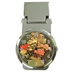 Still Life Vase With Rose Mallows By Vincent Van Gogh 1890  Money Clip with Watch