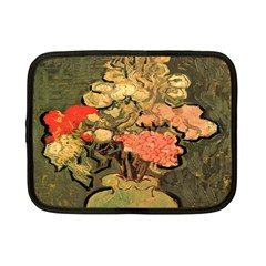 Still Life Vase With Rose Mallows By Vincent Van Gogh 1890  Netbook Case (Small)