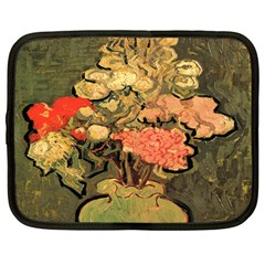 Still Life Vase With Rose Mallows By Vincent Van Gogh 1890  Netbook Case (Large)