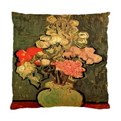 Still Life Vase With Rose Mallows By Vincent Van Gogh 1890  Cushion Case (Two Sides)