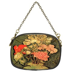 Still Life Vase With Rose Mallows By Vincent Van Gogh 1890  Chain Purse (Two Side)