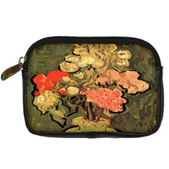 Still Life Vase With Rose Mallows By Vincent Van Gogh 1890  Digital Camera Leather Case