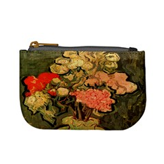Still Life Vase With Rose Mallows By Vincent Van Gogh 1890  Coin Change Purse