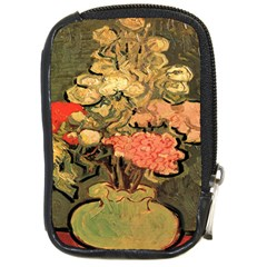 Still Life Vase With Rose Mallows By Vincent Van Gogh 1890  Compact Camera Leather Case