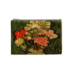 Still Life Vase With Rose Mallows By Vincent Van Gogh 1890  Cosmetic Bag (Medium)