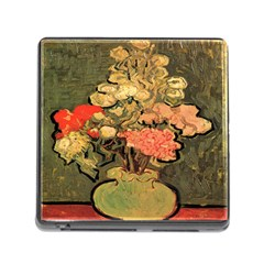 Still Life Vase With Rose Mallows By Vincent Van Gogh 1890  Memory Card Reader with Storage (Square)