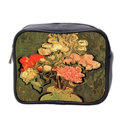 Still Life Vase With Rose Mallows By Vincent Van Gogh 1890  Mini Travel Toiletry Bag (Two Sides)