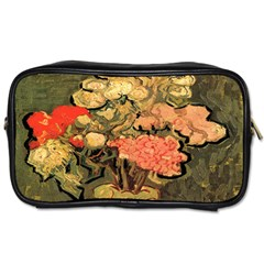 Still Life Vase With Rose Mallows By Vincent Van Gogh 1890  Travel Toiletry Bag (One Side)