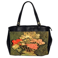 Still Life Vase With Rose Mallows By Vincent Van Gogh 1890  Oversize Office Handbag (Two Sides)