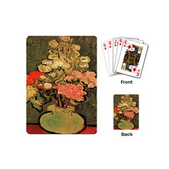 Still Life Vase With Rose Mallows By Vincent Van Gogh 1890  Playing Cards (Mini)
