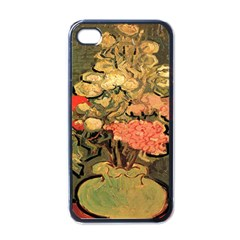 Still Life Vase With Rose Mallows By Vincent Van Gogh 1890  Apple iPhone 4 Case (Black)