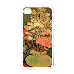 Still Life Vase With Rose Mallows By Vincent Van Gogh 1890  Apple iPhone 4 Case (White)