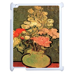 Still Life Vase With Rose Mallows By Vincent Van Gogh 1890  Apple iPad 2 Case (White)
