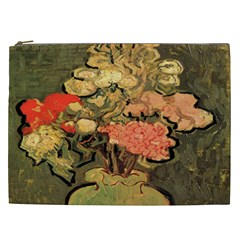 Still Life Vase With Rose Mallows By Vincent Van Gogh 1890  Cosmetic Bag (XXL)