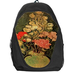 Still Life Vase With Rose Mallows By Vincent Van Gogh 1890  Backpack Bag