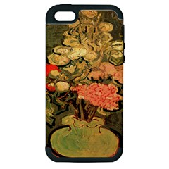 Still Life Vase With Rose Mallows By Vincent Van Gogh 1890  Apple iPhone 5 Hardshell Case (PC+Silicone)
