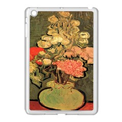 Still Life Vase With Rose Mallows By Vincent Van Gogh 1890  Apple iPad Mini Case (White)