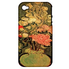 Still Life Vase With Rose Mallows By Vincent Van Gogh 1890  Apple iPhone 4/4S Hardshell Case (PC+Silicone)