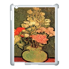 Still Life Vase With Rose Mallows By Vincent Van Gogh 1890  Apple iPad 3/4 Case (White)