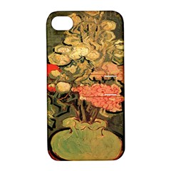Still Life Vase With Rose Mallows By Vincent Van Gogh 1890  Apple iPhone 4/4S Hardshell Case with Stand