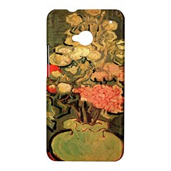 Still Life Vase With Rose Mallows By Vincent Van Gogh 1890  HTC One M7 Hardshell Case