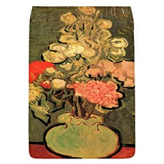 Still Life Vase With Rose Mallows By Vincent Van Gogh 1890  Removable Flap Cover (Large)