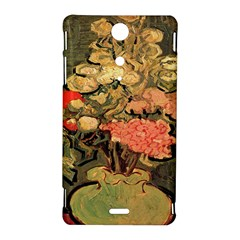 Still Life Vase With Rose Mallows By Vincent Van Gogh 1890  Sony Xperia TX Hardshell Case