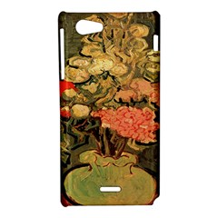 Still Life Vase With Rose Mallows By Vincent Van Gogh 1890  Sony Xperia J Hardshell Case
