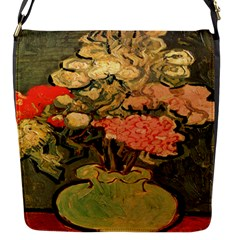 Still Life Vase With Rose Mallows By Vincent Van Gogh 1890  Flap closure messenger bag (Small)