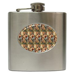 Autumn By Alfons Mucha 1896 Hip Flask