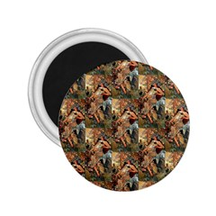 Autumn By Alfons Mucha 1896 2.25  Button Magnet