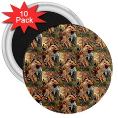 Autumn By Alfons Mucha 1896 3  Button Magnet (10 pack)