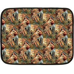 Autumn By Alfons Mucha 1896 Mini Fleece Blanket (Two-sided)