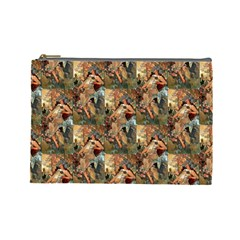 Autumn By Alfons Mucha 1896 Cosmetic Bag (Large)