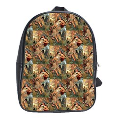 Autumn By Alfons Mucha 1896 School Bag (Large)