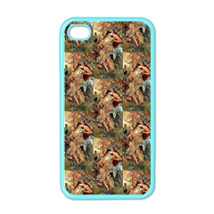Autumn By Alfons Mucha 1896 Apple iPhone 4 Case (Color)