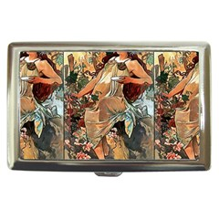 Autumn By Alfons Mucha 1896 Cigarette Money Case