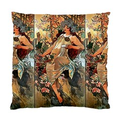 Autumn By Alfons Mucha 1896 Cushion Case (One Side)