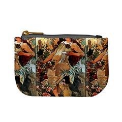 Autumn By Alfons Mucha 1896 Coin Change Purse