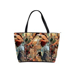 Autumn By Alfons Mucha 1896 Large Shoulder Bag