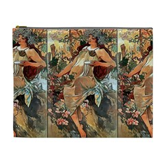 Autumn By Alfons Mucha 1896 Cosmetic Bag (XL)