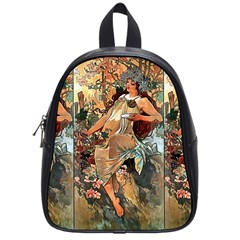 Autumn By Alfons Mucha 1896 School Bag (Small)