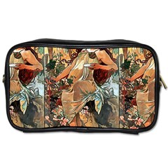 Autumn By Alfons Mucha 1896 Travel Toiletry Bag (Two Sides)