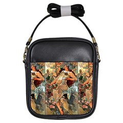 Autumn By Alfons Mucha 1896 Girl s Sling Bag