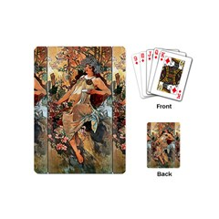 Autumn By Alfons Mucha 1896 Playing Cards (Mini)