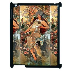 Autumn By Alfons Mucha 1896 Apple iPad 2 Case (Black)