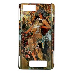 Autumn By Alfons Mucha 1896 Motorola Droid X / X2 Hardshell Case