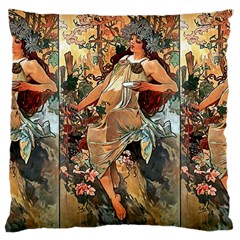 Autumn By Alfons Mucha 1896 Large Cushion Case (One Side)