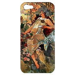 Autumn By Alfons Mucha 1896 Apple iPhone 5 Hardshell Case